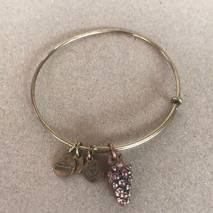 Alex and Ani grape bracelet